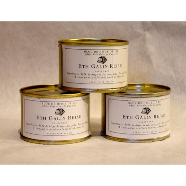 """Bloc de """"HITGE DE LIT"""" (Bloc de foie gras de pato) 70gr"""
